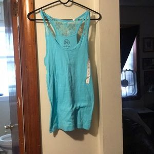 """""""SO"""" by Kohl's blue laced tank top!"""